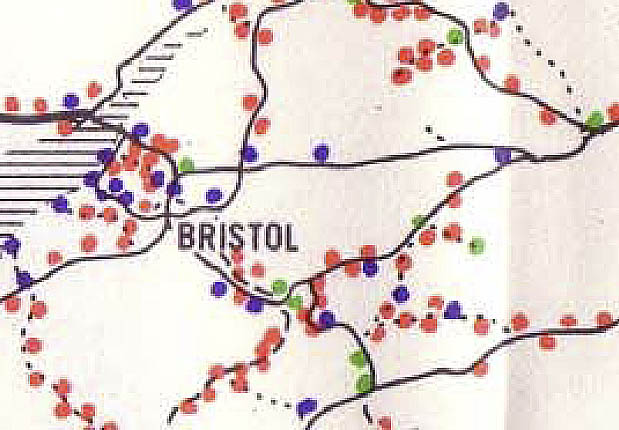 Railway station traffic levels (1961) North and West Wilts to Bath and Bristol