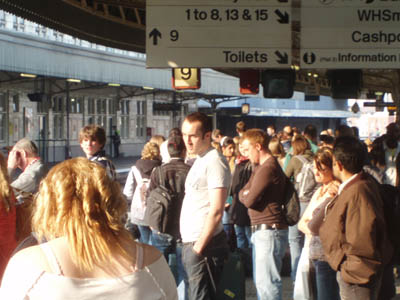Crowds at Temple Meads