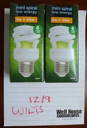 Mini spiral low energy bulbs