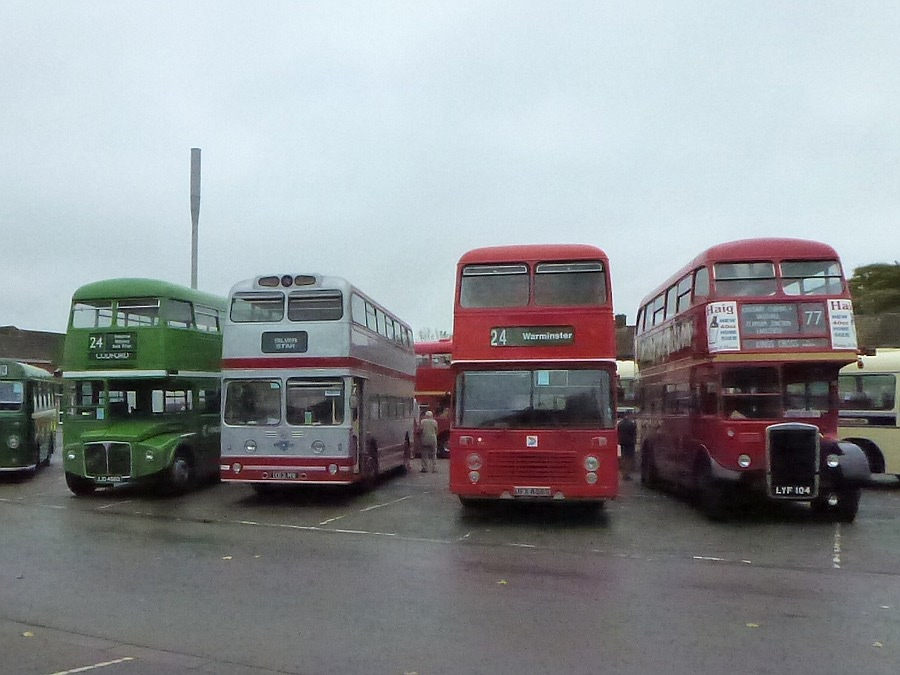 Double Decker buses at Warminster