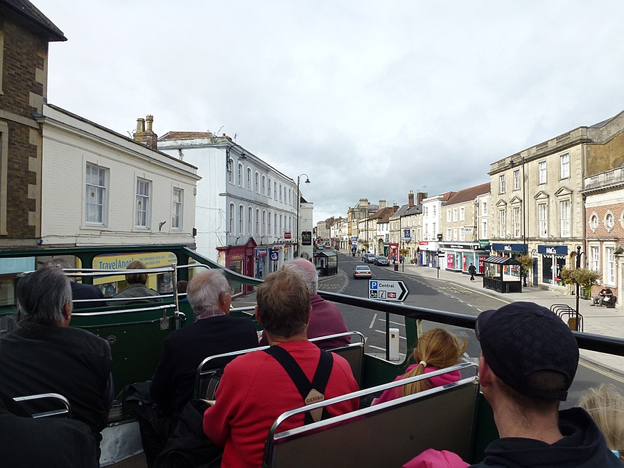 Open Top bus from Brighton in Warminster