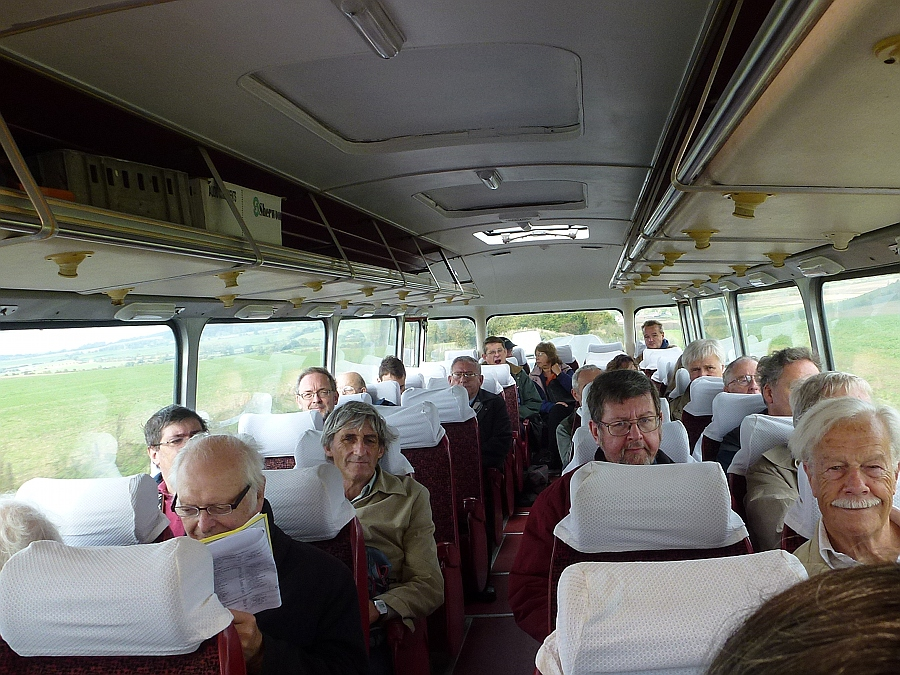 Inside a Crosville Coach
