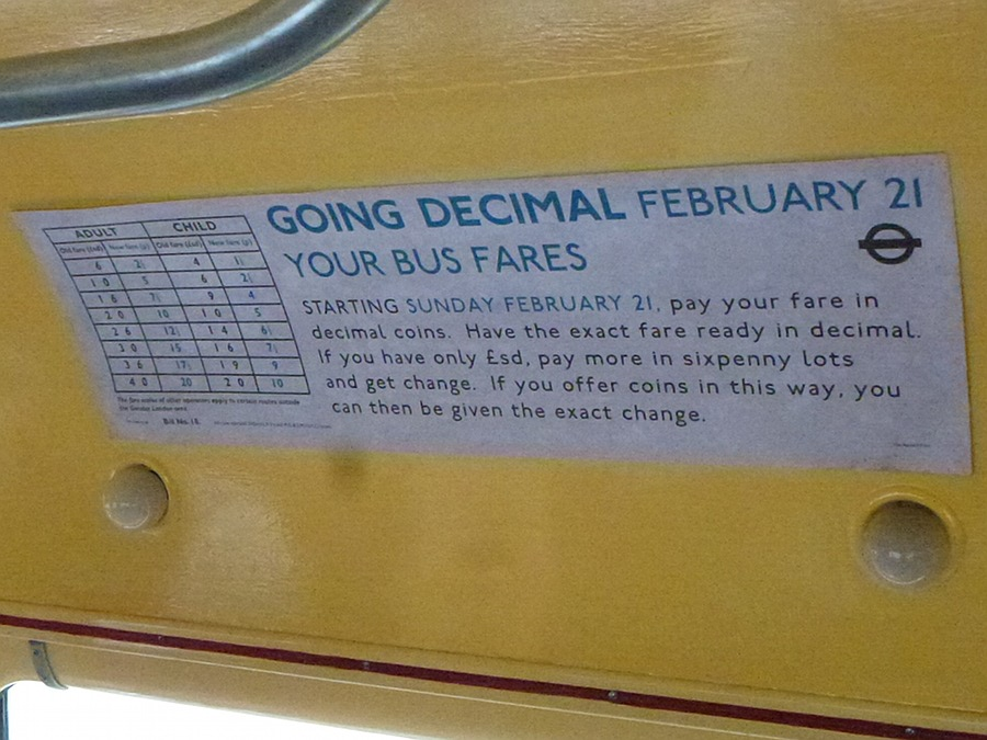 Sign about Decimalisation