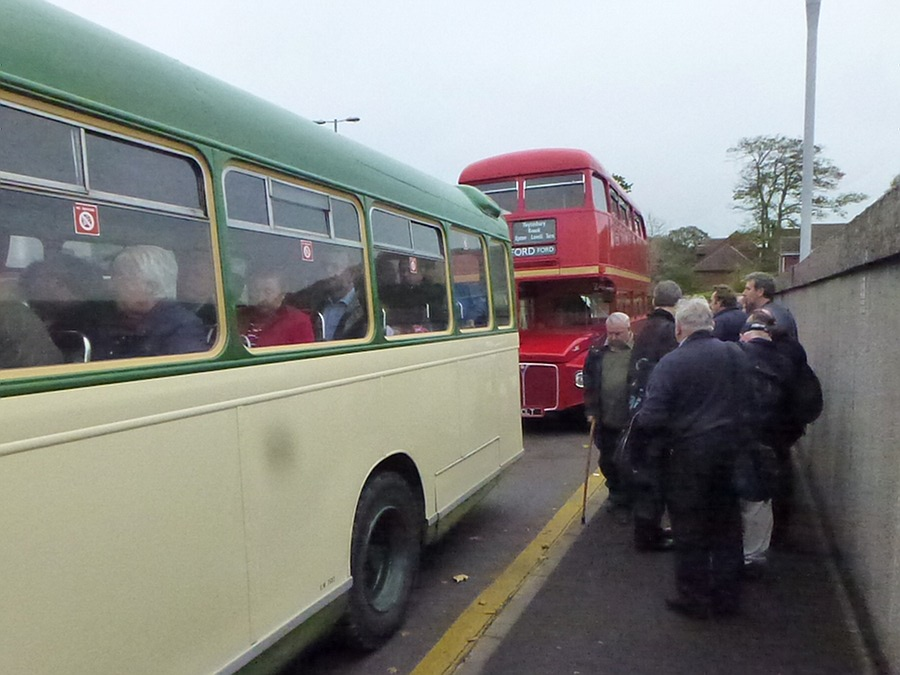 Waiting at Warminster Bus Stop