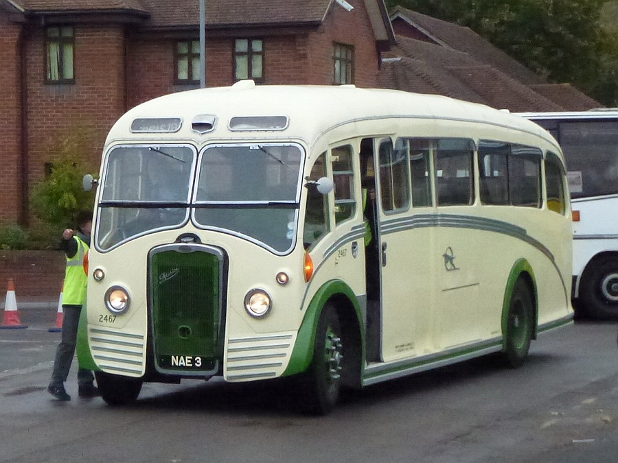 Arriving at Warminster Bus running day