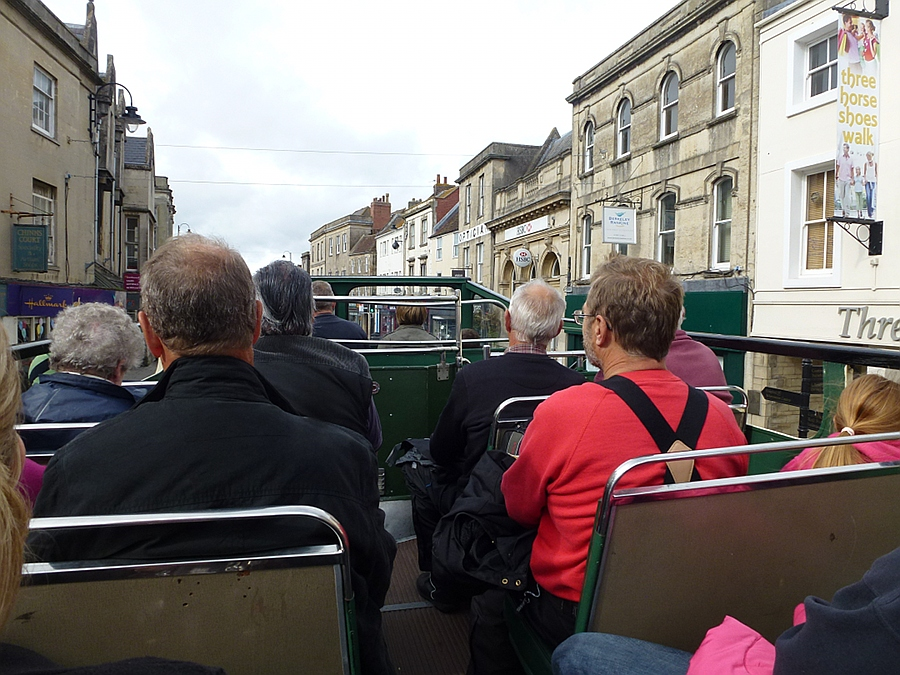 Open top bus in Westbury