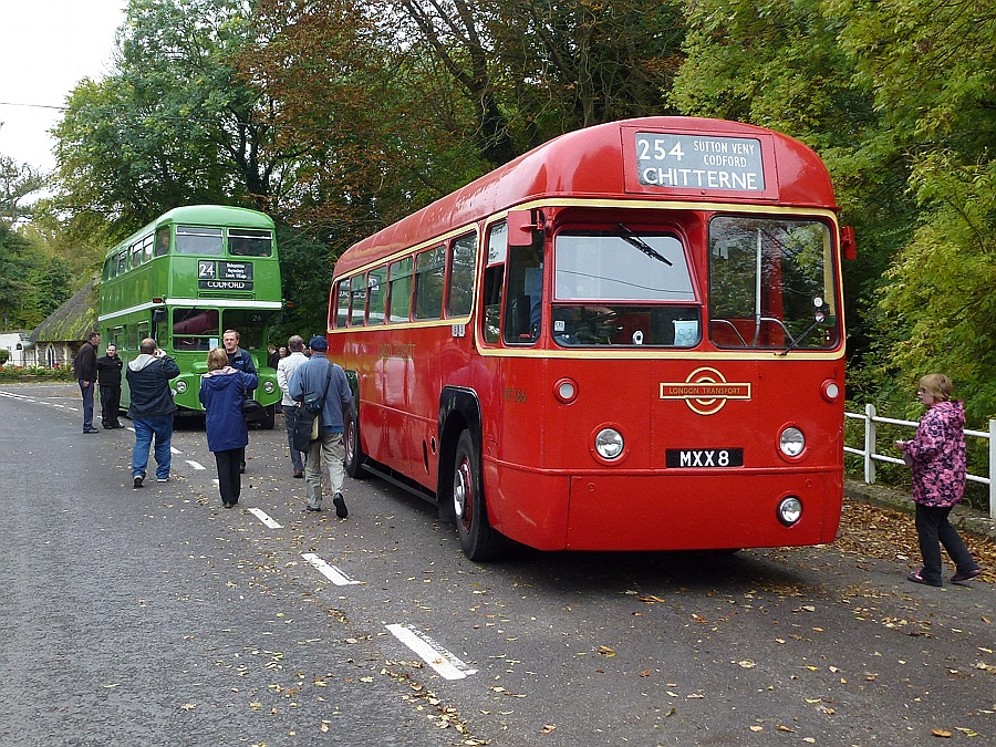 Connecting buses in a country village - Codford