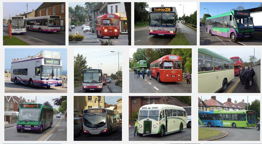 A bevy of different buses