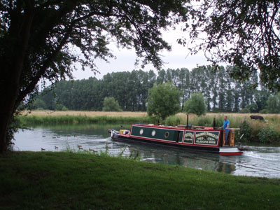 Narrow Boat near Buscot, Oxon