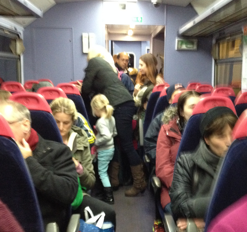 A busy train in Wiltshire