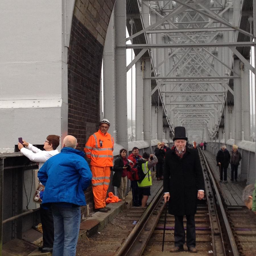Brunel on the Royal Albert Bridge, Saltash to St Budeaux