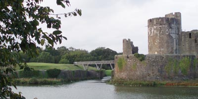 The Castle at Caerphilly
