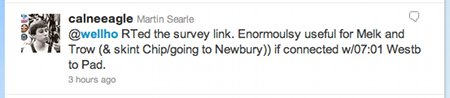 A tweet from the Calne Eagle
