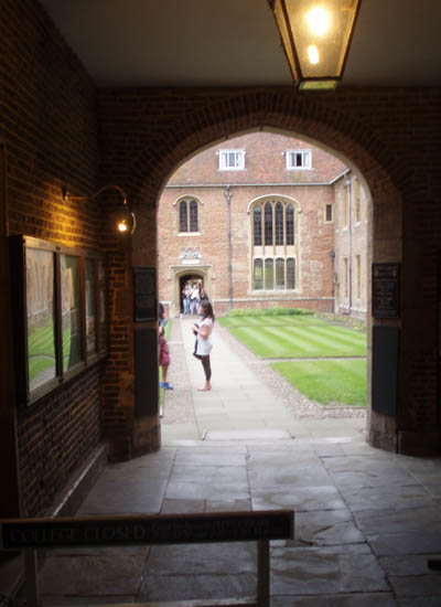 Entrance to a college