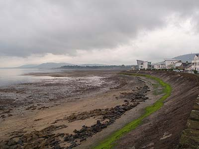 Shore line onto Belfast Lough