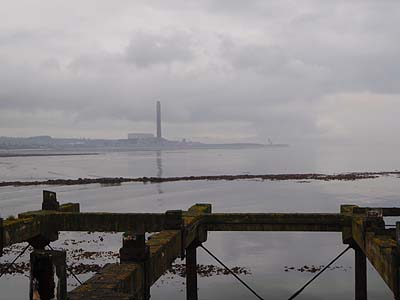 Old landing stage - view to power station