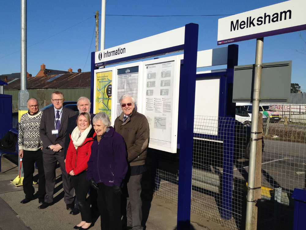 TransWilts and MRUG team at Melksham Station