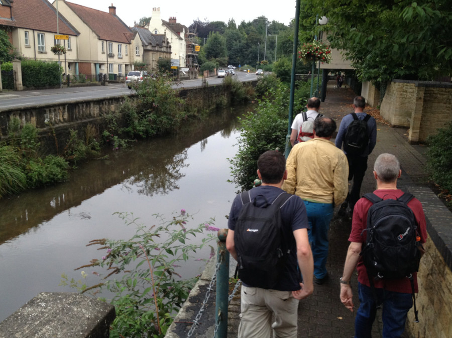 Walking group in Calne - taking the old canal to the edge of town