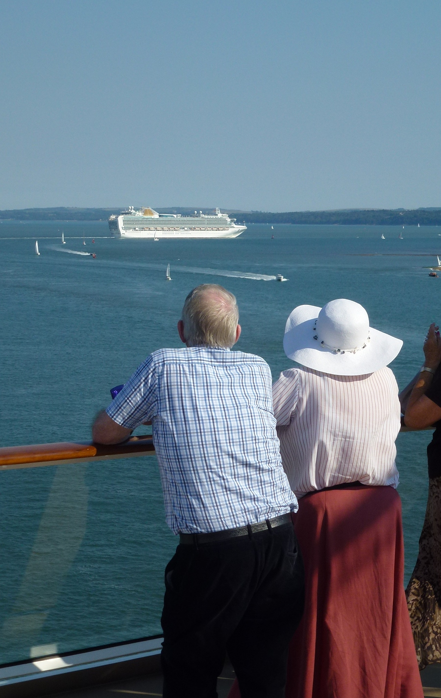 Watching other boats off Cowes