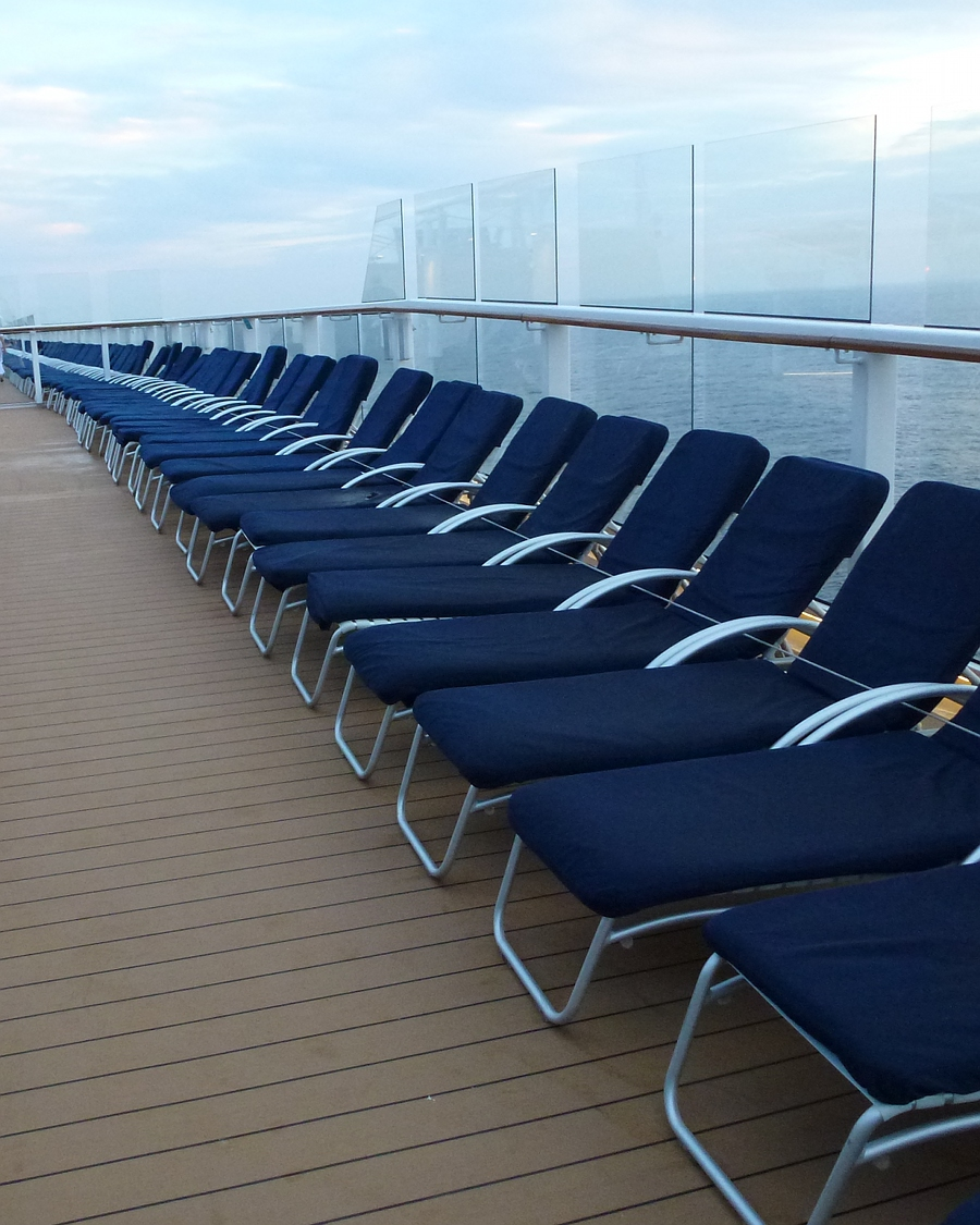 Deckchairs on the Celebrity Eclipse