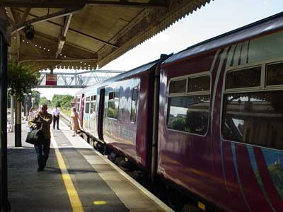 At Chippenham Station - Swindon train