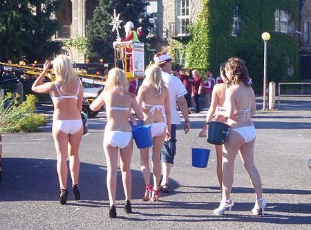 Melksham Girls in white bikinis