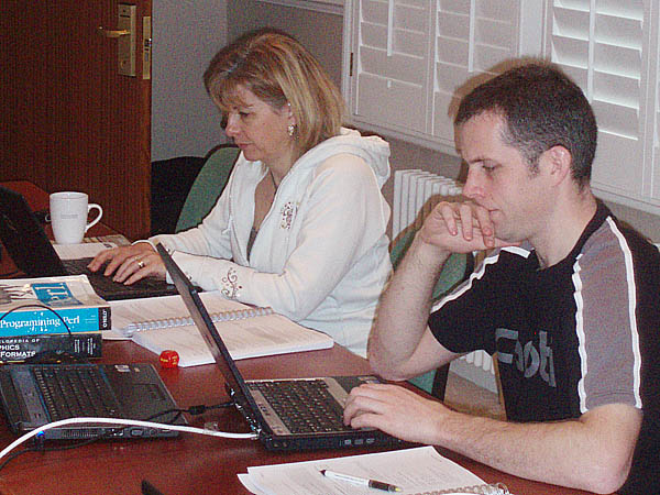 Delegates on a Perl Course, Jan 2008