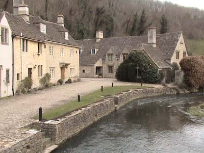 The river runs through Castle Combe