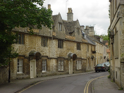 Old cottages in Corsham
