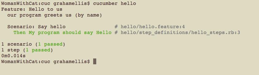 Cucumber - behaviour driven development
