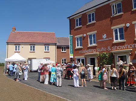 Show home at the official opening
