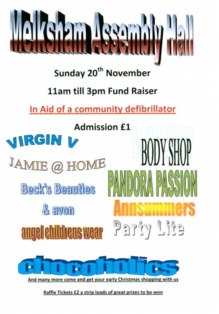 Melksham Defibrillator Fund Raiser Poster