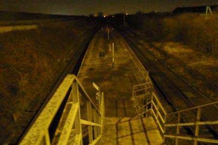 Steps to platform, Denton
