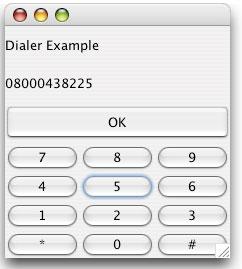 Dialler in Java - screen capture