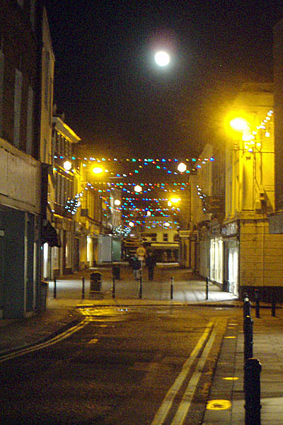 The Shambles, Devizes - Moonlit near Christmas