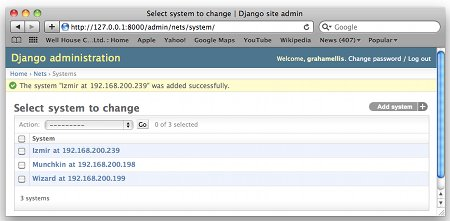 Changing data via Django admin