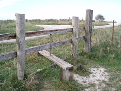 The Stile to the Devizes White Horse