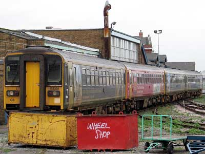 Trains stored at Eastleigh