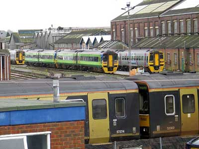 Trains out of use at Eastleigh