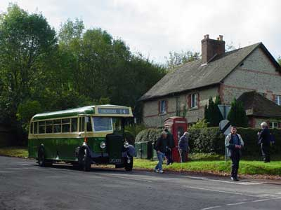 Vintage bus at Horningsham