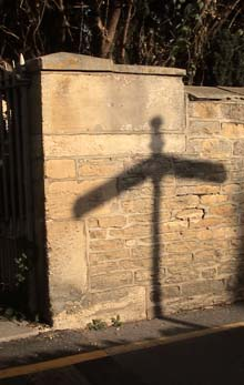 Finger post shadow, Melksham