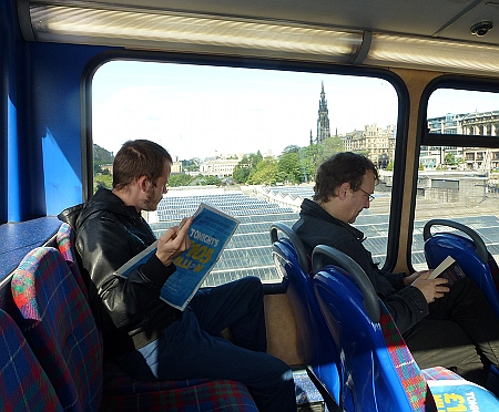 Edinburgh Commuters on the bus