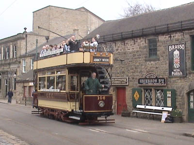 Saturday at Crich tramway museum