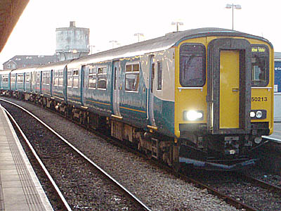 Cardiff - the train for Ebbw Vale