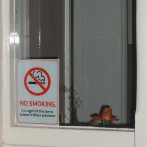 No Smoking signs - Well House Manor