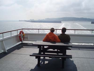 On the ferry from Dover