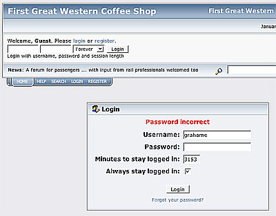 First Great Western .info login
