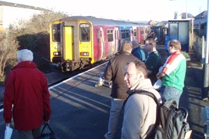 Melksham station awaiting the last commuter train