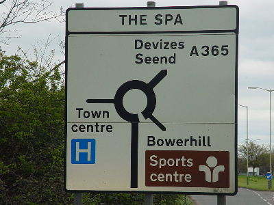 Take the sign for town centre and hospital