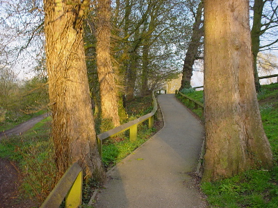 A charming path up to Coate Water
